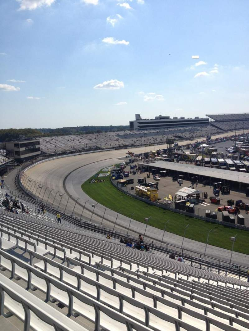 Seating view for Dover International Speedway Section 213 Row 28 Seat 11