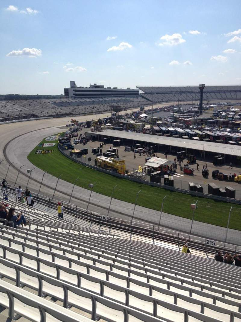 Seating view for Dover International Speedway Section 215 Row 21 Seat 3