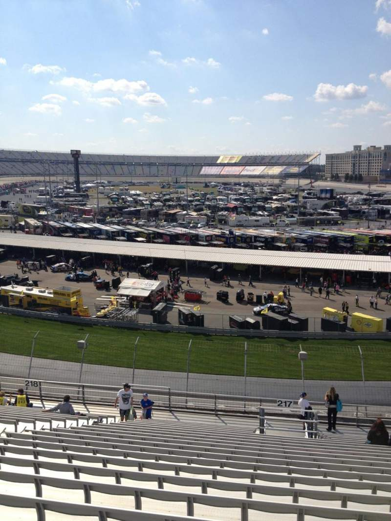 Seating view for Dover International Speedway Section 217 Row 21 Seat 12