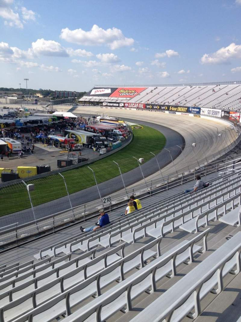 Seating view for Dover International Speedway Section 219 Row 12 Seat 9