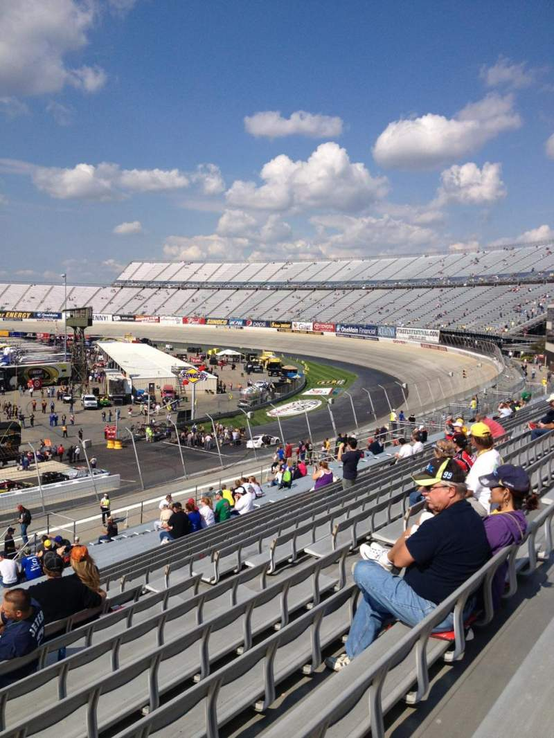 Seating view for Dover International Speedway Section 243 Row 38 Seat 12
