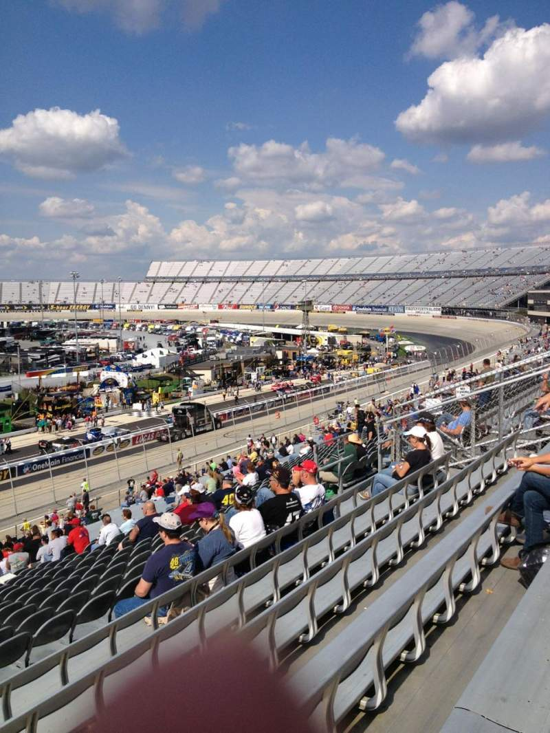 Seating view for Dover International Speedway Section 251 Row 42 Seat 21