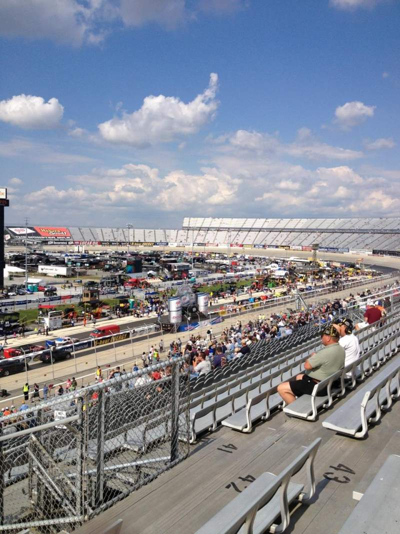 Seating view for Dover International Speedway Section 106 Row 44 Seat 8