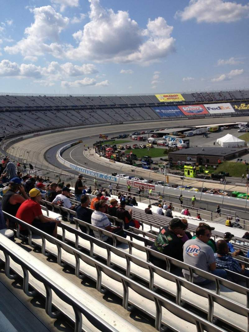 Seating view for Dover International Speedway Section 108 Row 45 Seat 8