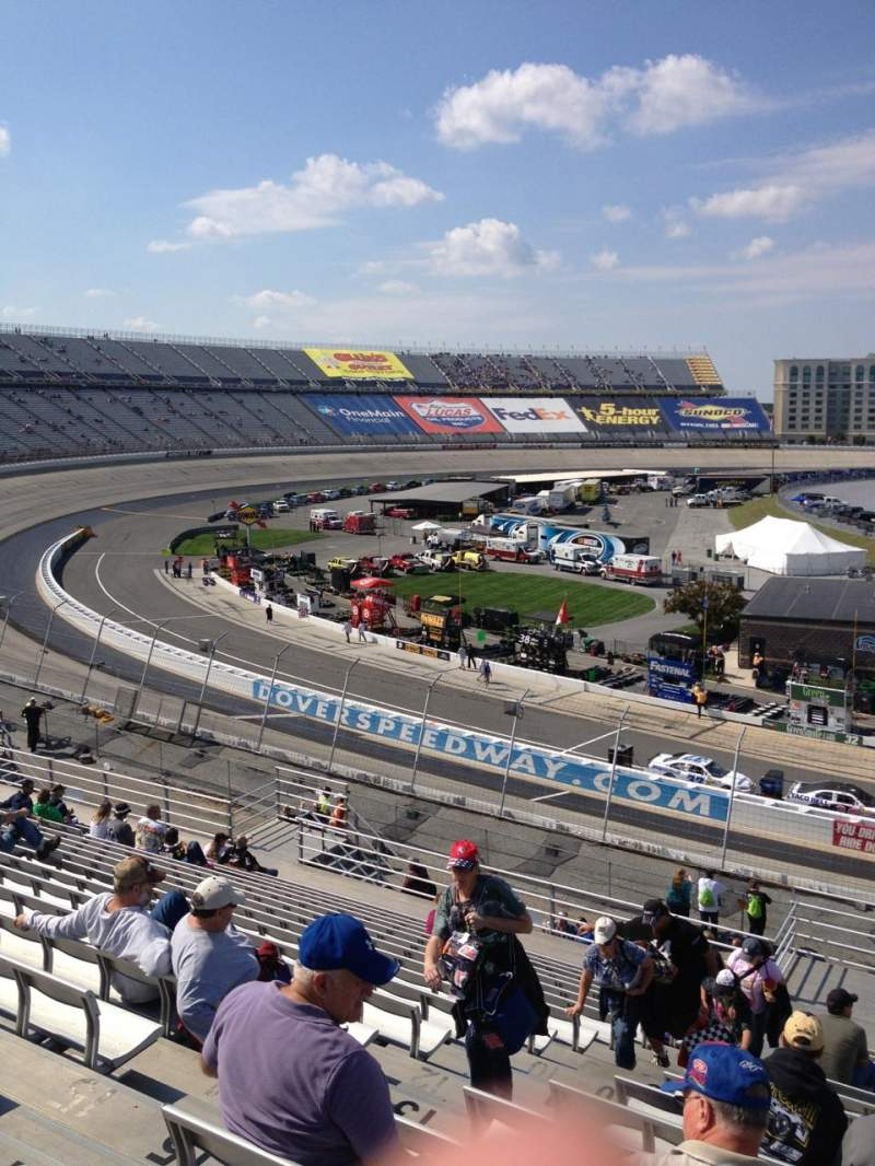 Seating view for Dover International Speedway Section 112 Row 18 Seat 9