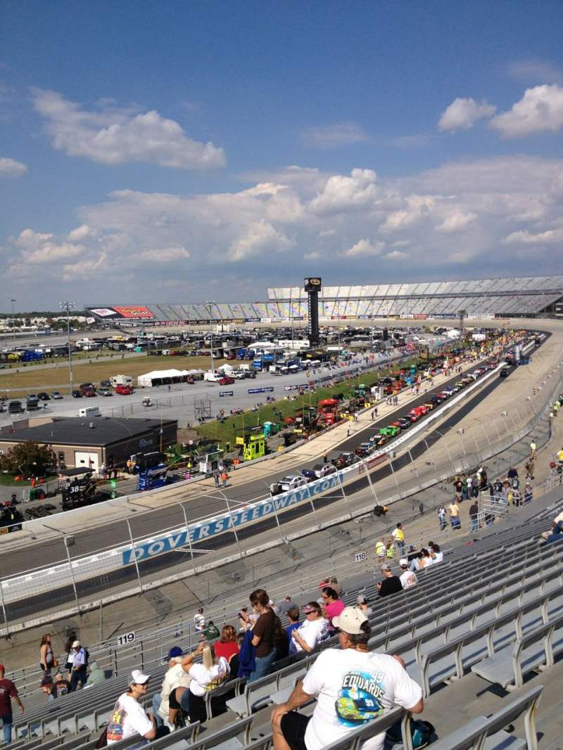 Seating view for Dover International Speedway Section 120 Row 24 Seat 8