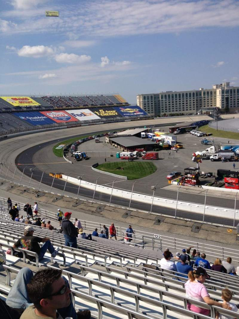 Seating view for Dover International Speedway Section 121 Row 24 Seat 12