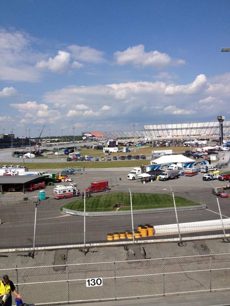 Seating view for Dover International Speedway Section 130 Row 12 Seat 11