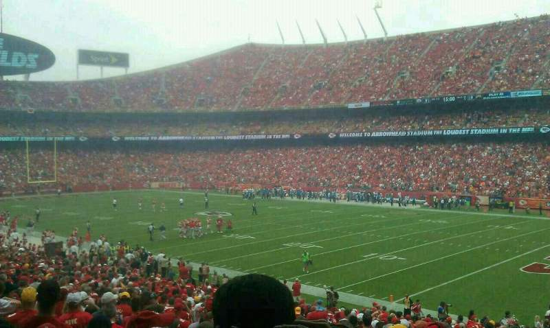 Seating view for Arrowhead Stadium Section 114 Row 32