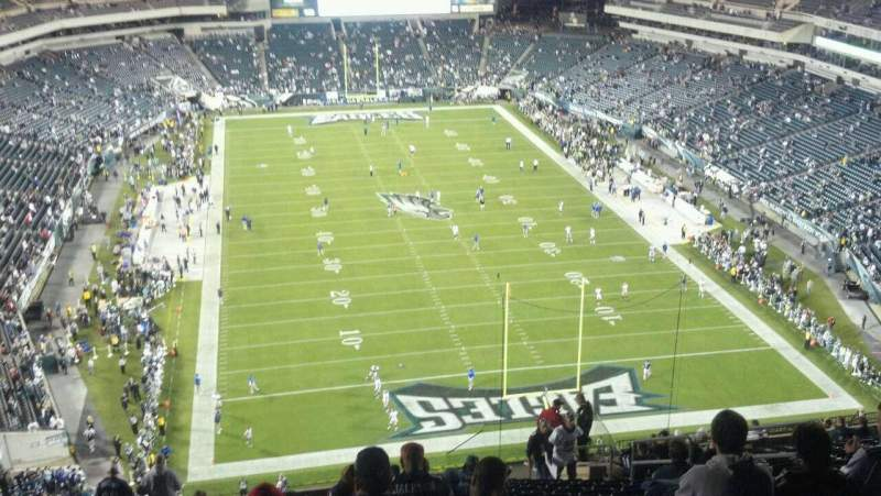 Seating view for Lincoln Financial Field Section 233 Row 23 Seat 11