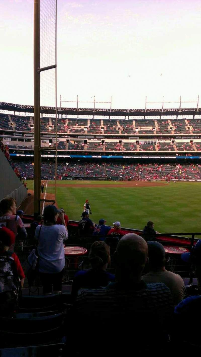 Seating view for Globe Life Park in Arlington Section 44 Row 5 Seat 2