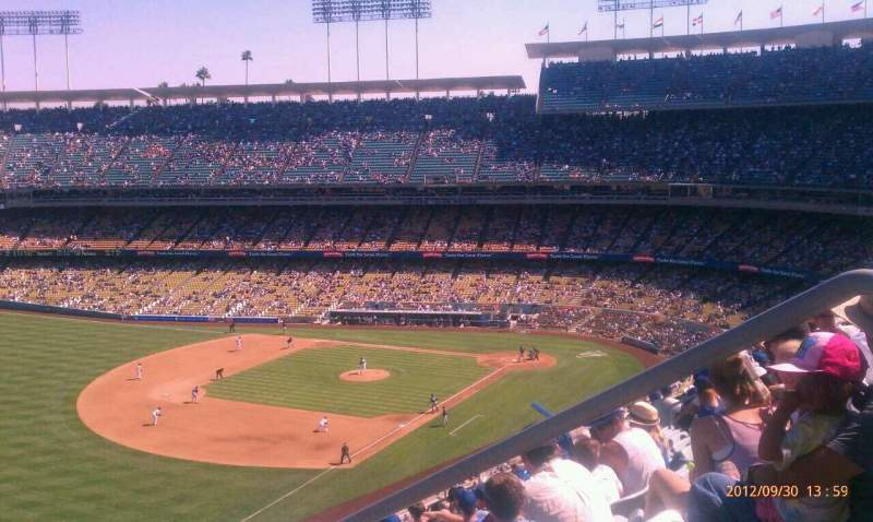 Seating view for Dodger Stadium Section 43RS Row o Seat 1-8