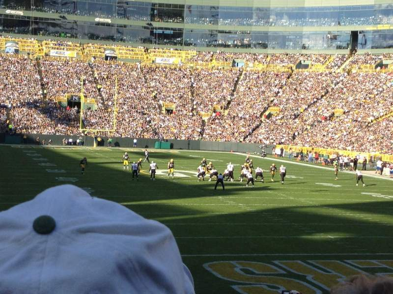 Lambeau field section 136 row 18 home of green bay packers
