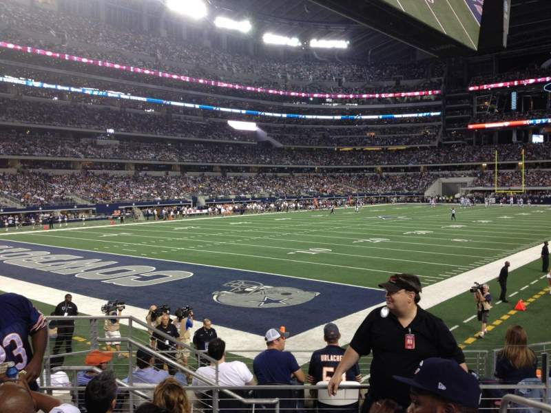 Seating view for AT&T Stadium Section 120 Row 8 Seat 1