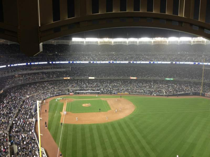 Seating view for Yankee Stadium Section 406 Row 4 Seat 3