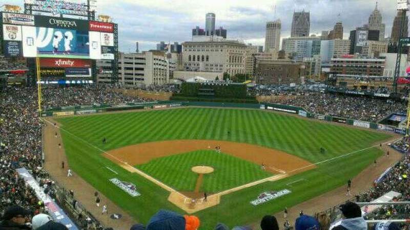 Seating view for Comerica Park Section 327 Row 5 Seat 9