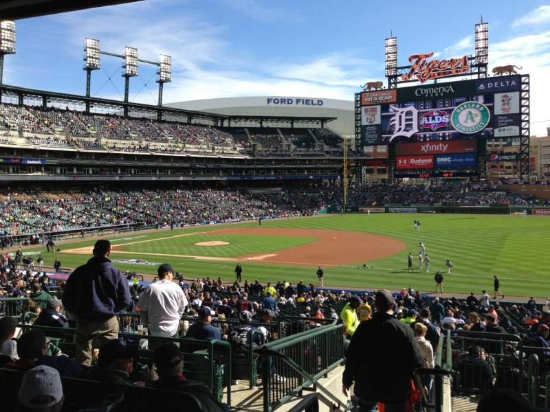 Seating view for Comerica Park Section 117C Row G Seat 6