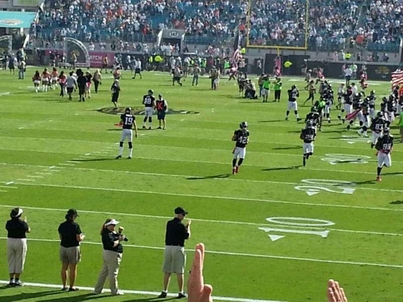 Seating view for Everbank Field Section 122 Row n Seat 6