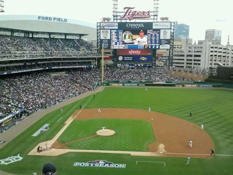 Seating view for Comerica Park Section 322 Row 1 Seat 12