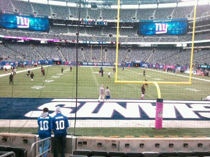 Seating view for MetLife Stadium Section 126 Row 9 Seat 21
