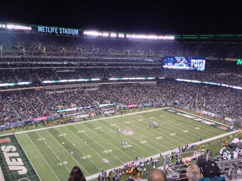 Seating view for Metlife Stadium Section 343 Row 12 Seat 20