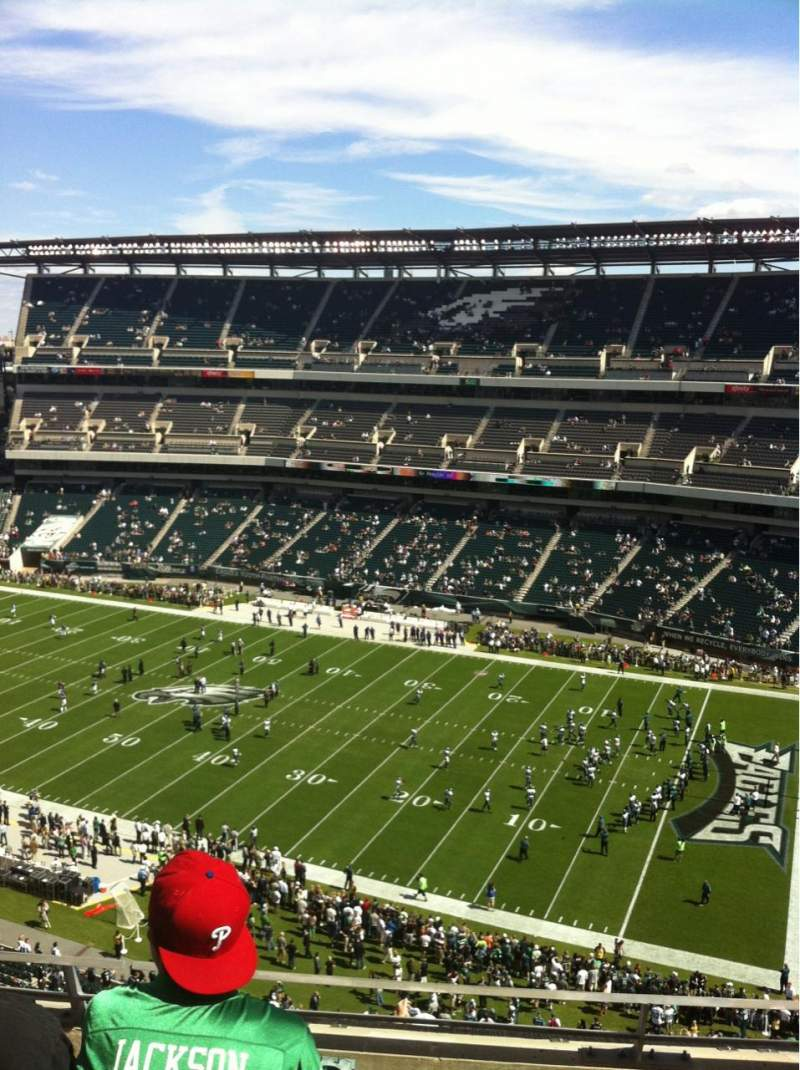 Seating view for Lincoln Financial Field Section 205 Row 7