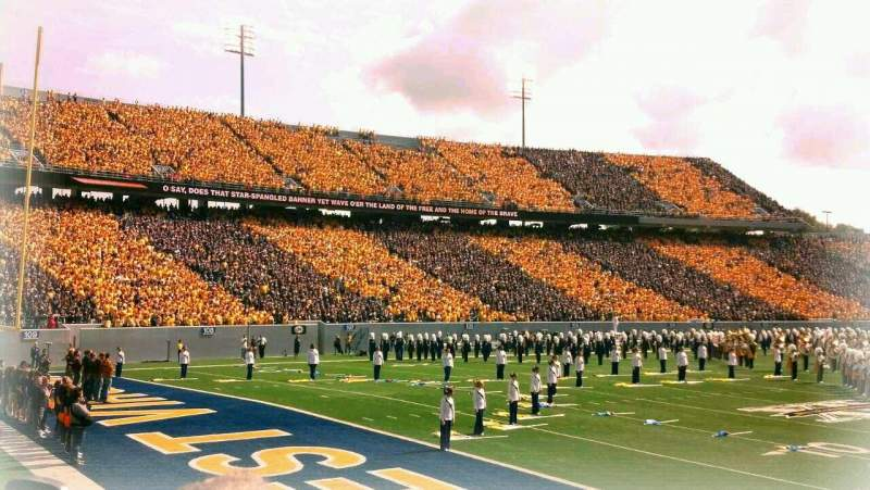 Seating view for Mountaineer Field Section senior spirit Row 4