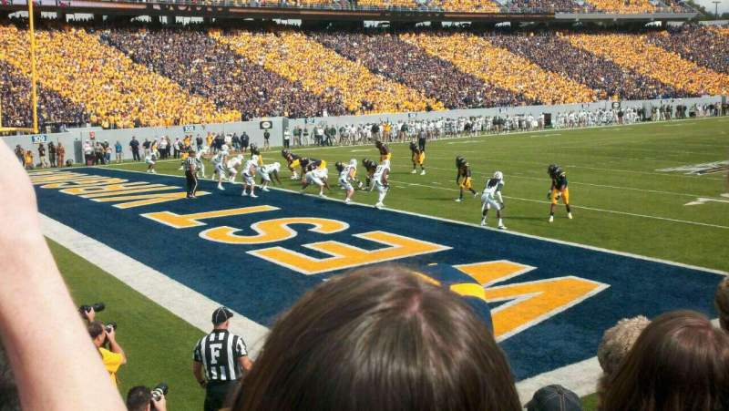 Seating view for Mountaineer Field Section Senior Spirit Row 3