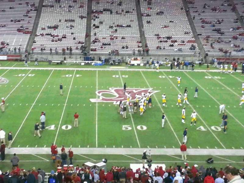 Seating view for Martin Stadium Section 26 Row 27 Seat 9