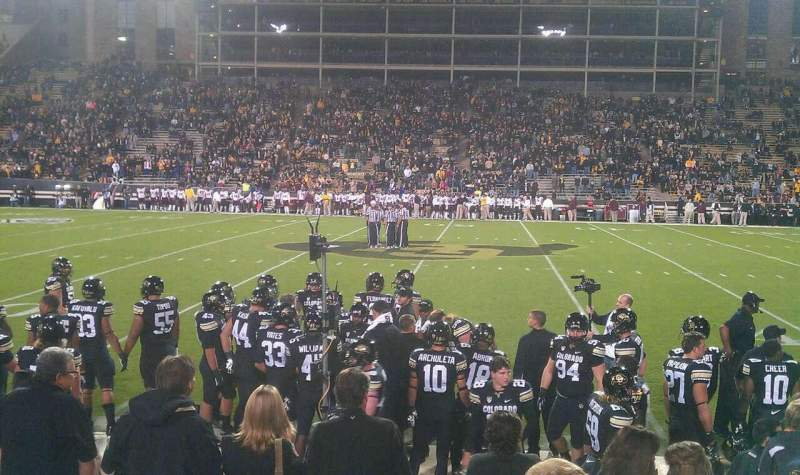 Seating view for Folsom Field Section 118 Row 4 Seat 2