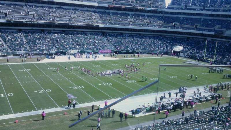 Seating view for Lincoln Financial Field Section c37 Row 8 Seat 2
