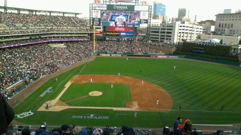 Seating view for Comerica Park Section 322 Row 9 Seat 10