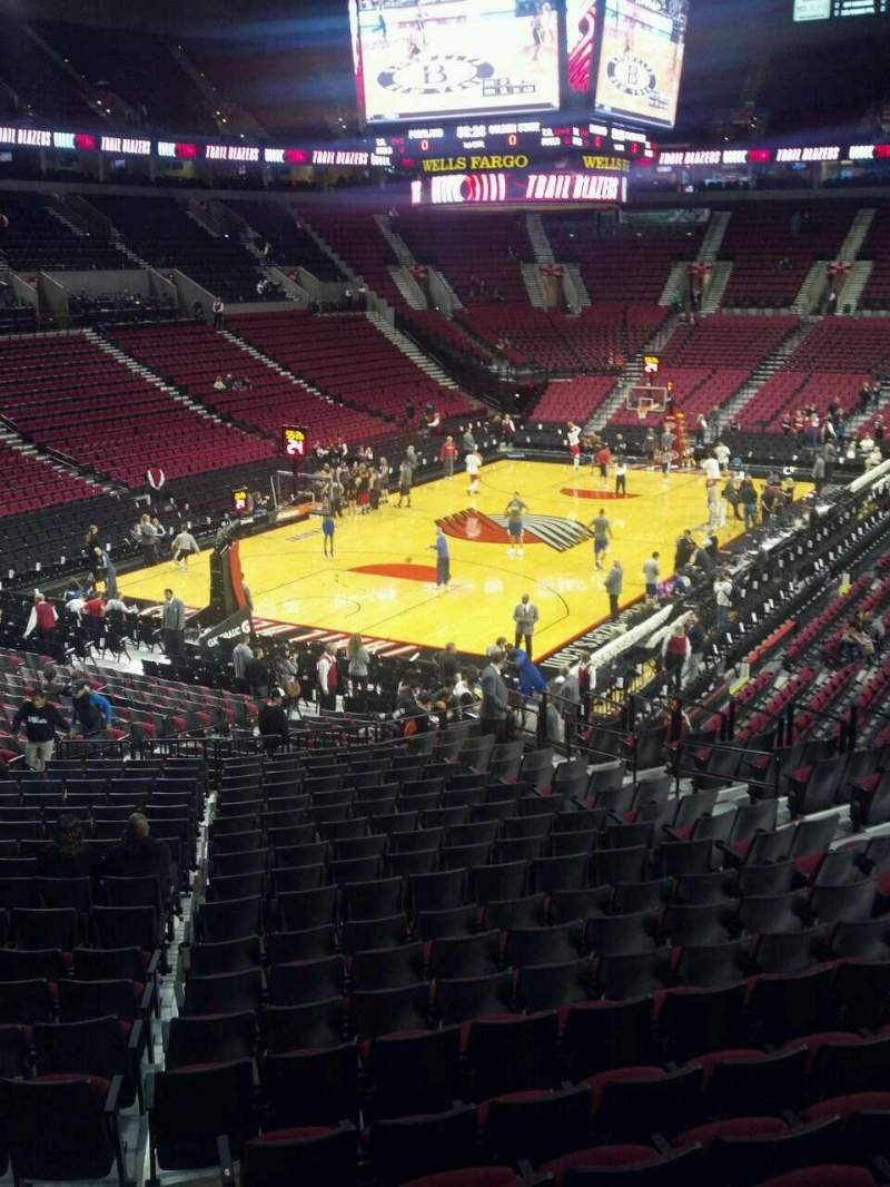 Seating view for Moda Center Section 206 Row g Seat 12