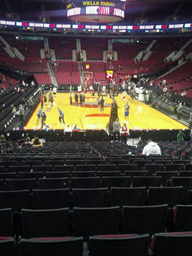 Seating view for Moda Center Section 107 Row L Seat 7