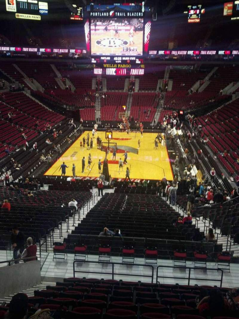 Seating view for Moda Center Section 208 Row N Seat 11