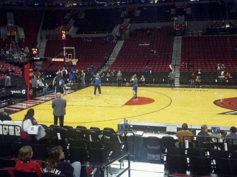 Seating view for Moda Center Section 101 Row G Seat 20