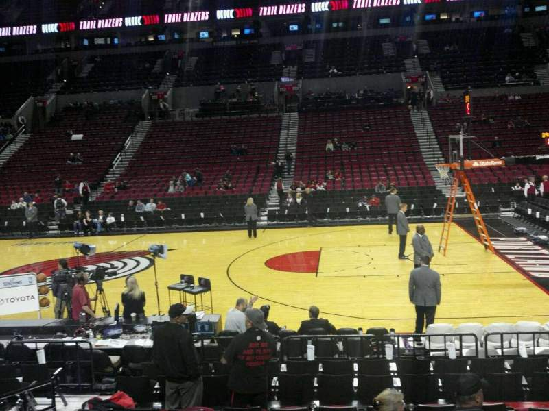 Seating view for Moda Center Section 122 Row J Seat 11