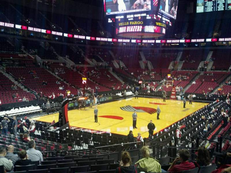 San Jose College >> Moda Center, section 216, home of Portland Trail Blazers ...