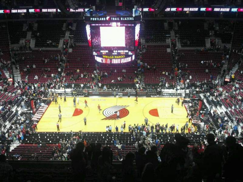 Seating view for Moda Center Section 318 Row m Seat 5