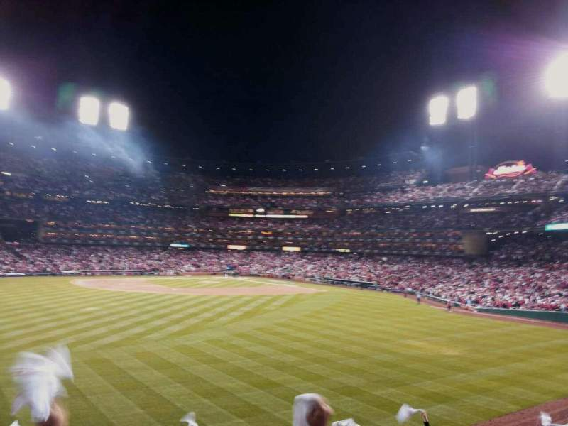 Seating view for Busch Stadium Section 595 Row 17 Seat 1