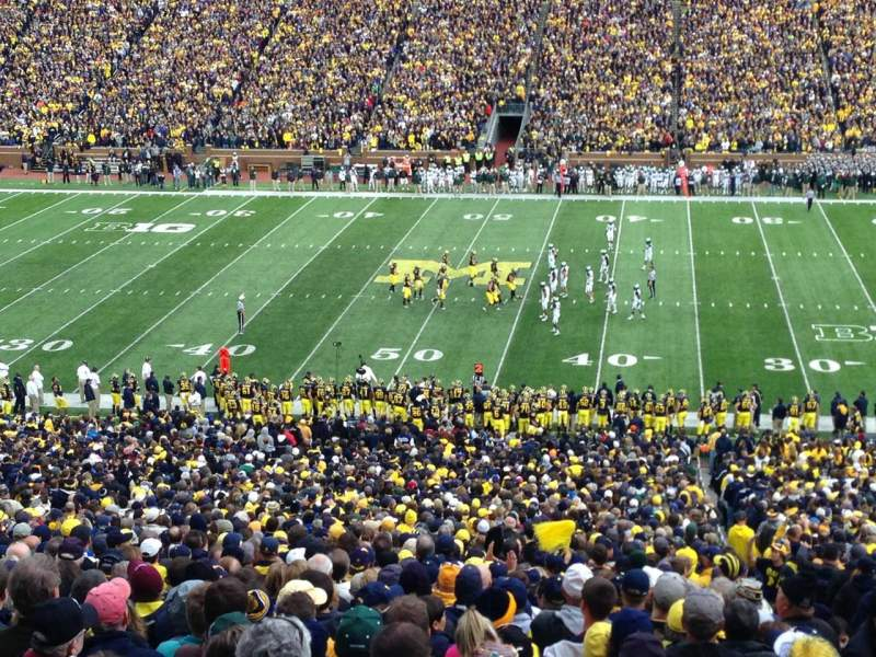 Seating view for Michigan Stadium Section 22 Row 80 Seat 13