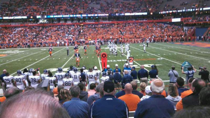 Seating view for Carrier Dome Section 115 Row I Seat 107