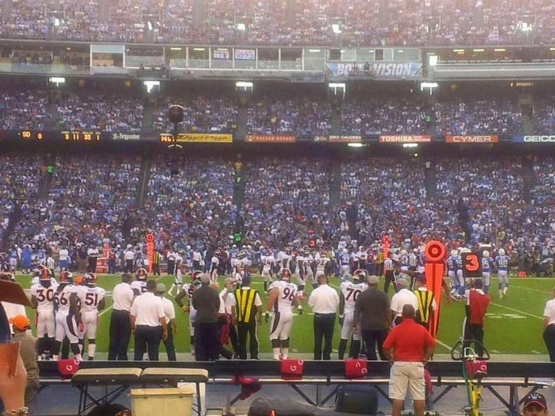 Seating view for Qualcomm Stadium Section f6 Row 5 Seat 14