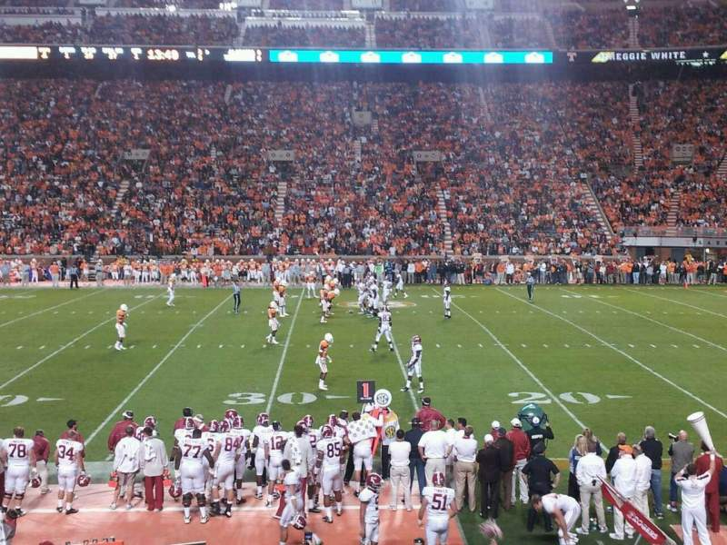 Seating view for Neyland Stadium Section B Row 18 Seat 22