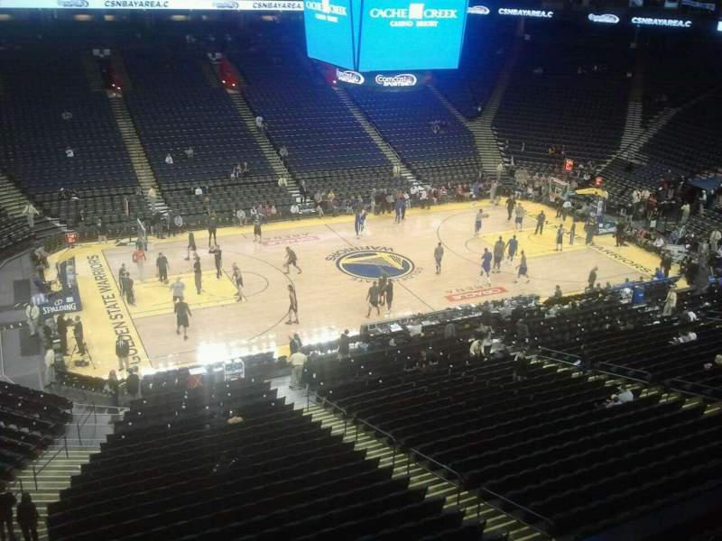 Seating view for Oracle Arena Section 202 Row 1 Seat 12