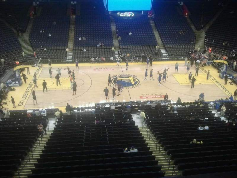 Oracle Arena, section: 201, row: 1, seat: 8