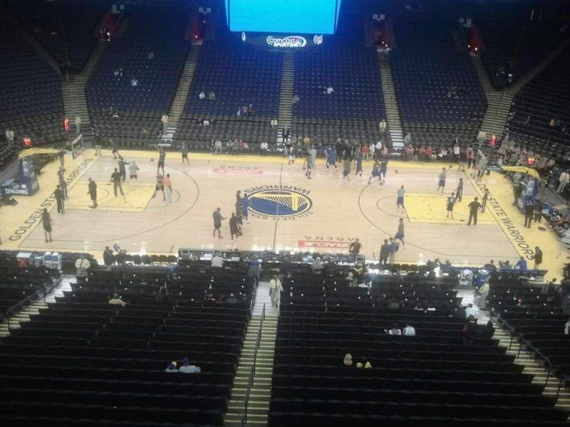 Seating view for Oracle Arena Section 232 Row 1 Seat 8