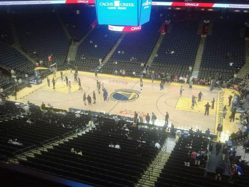 Seating view for Oracle Arena Section 231 Row 1 Seat 12
