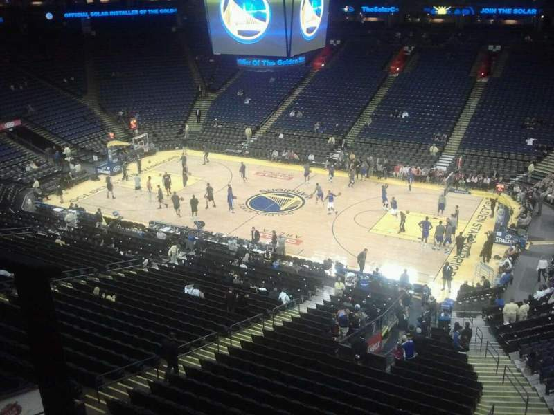 Seating view for Oracle Arena Section 229 Row 1 Seat 11