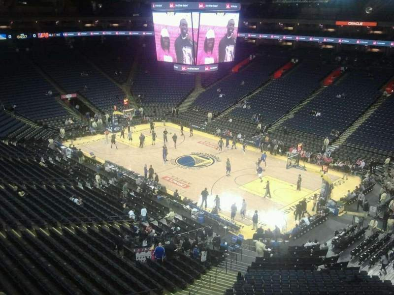 Seating view for Oracle Arena Section 228 Row 2 Seat 1